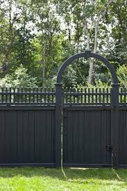 Decorative Outdoor Fencing Fence Line Landscaping Landscape Traditional With Grass Vinyl Gates