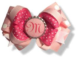 custom hair bows hair bows for every occasion personalized monogram initial