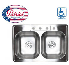 Kitchen Sinks Drop In Double Bowl by 33 Inch Stainless Steel Top Mount Drop In 60 40 Double Bowl