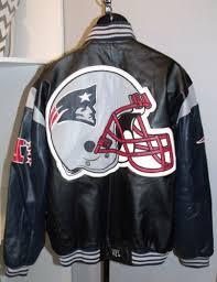 mens new patriots nfl football heavy winter leather coat