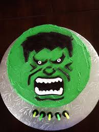 hulk smash cake i made for a very happy lil 5 year old boy cake