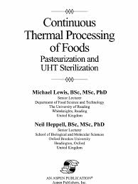 continuous thermal processing of foods pasteurization and uht
