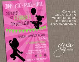 karate birthday invitation karate party invitations karate