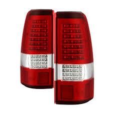 2004 gmc sierra tail lights gmc sierra 2004 2006 red clear custom full led tail lights