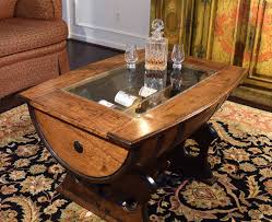 coffee table remarkable whiskey barrel coffee table ideas wine