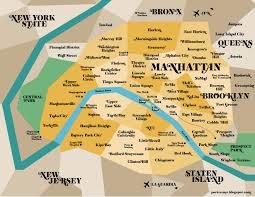 Map Of Manhattan Neighborhoods Arthur Avenue Little Italy Map New York By Marilena Perilli