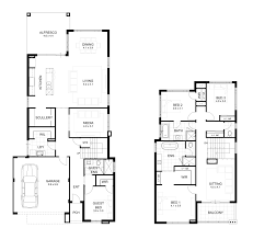 narrow lot double storey house designs perth apg homes