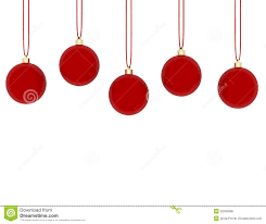 3d render of hanging red ornaments royalty free stock image