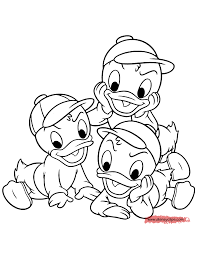 huey dewey and louie coloring pages printable images kids aim