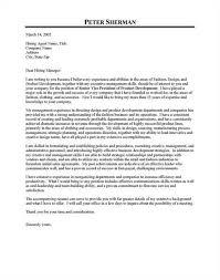 fashion designer cover letter for resume