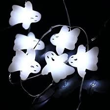 halloween ghost string lights amazon com halloween string lights leorx 3 meters 40 leds ghost