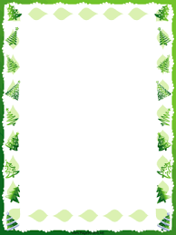free printable winter holiday border features green