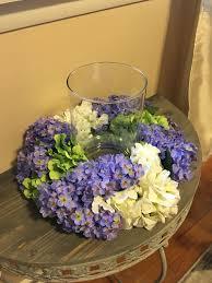 floral centerpiece hydrangeas and lilacs centerpiece spring