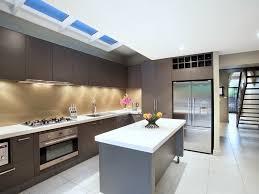 Contemporary Kitchen Ideas Kitchen Minimalist White Galley Kitchen Recent Style Brown