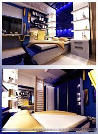 futuristic blue teen rooms design with stylish bedroom and natty