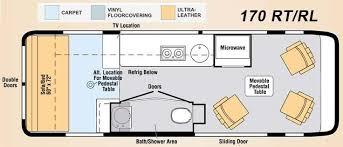 Motorhome Floor Plans Class B Motorhome Floor Plan Class B Motorhomes Floor Plans Rv