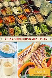 7 day shredding u0026 fat burning meal plan www myfitstation com