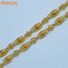 gold colored chain necklace images Abjcoin decentralized marketplace anniyo 7mm 50cm ethiopian jpg