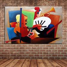 online get cheap wall mural pictures aliexpress com alibaba group abstract musical instruments oil painting modern canvas art wall mural picture for bedroom living room decoration