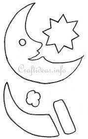 christmas and winter craft templates santa moon