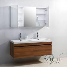 virtu usa jd 50355 zuri 55 double sink bathroom vanity vanity