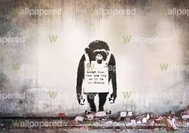 banksy chimp wall mural banksy wallpaper banksy chimp mural wallpaper loading zoom