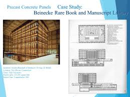 beinecke rare book and manuscript library precast concrete panels and stone veneer panels ppt video online