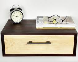 Floating Nightstand With Drawer Floating Nightstand Modern Bedside Table Mid Century Night
