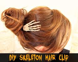diy skeleton hair clip for halloween morena u0027s corner