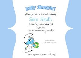 smurfs baby shower invitations theruntime com