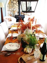 decorating table for thanksgiving black metal glass