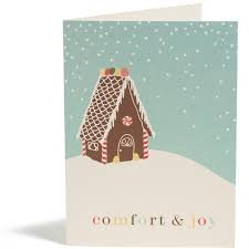 shop boxed cards gingerbread house boxed card snow