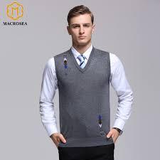 mens sweater vests macrosea s merino wool sweater vest autumn s knitted wool