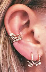conch piercing cuff these 30 ear piercing ideas mybodiart