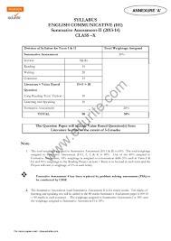 class 10 cbse english commuicative sample paper term 2 2014