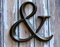 Metal Wall Letters Home Decor Large Ampersand Etsy