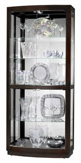 680395 howardmiller 82 blackmodern curio display cabinet glass mirror
