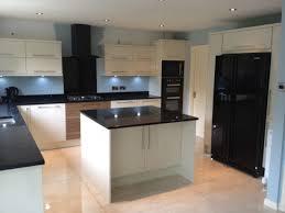Black Appliances Kitchen Design - kitchen design enchanting cool white kitchen cabinets and black