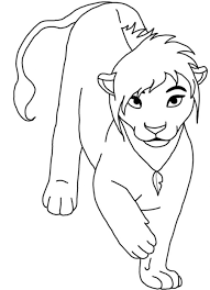trapped lion coloring pages printable lion