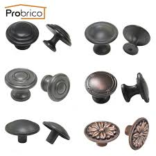 oil rubbed bronze kitchen cabinet pulls probrico vintage furniture drawer knob zinc alloy black copper oil