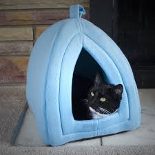 igloo amazon com petmaker cozy kitty tent igloo plush enclosed cat bed