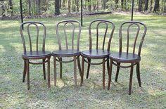 Bentwood Bistro Chair Vintage Bentwood Chair Set Of 4 Pressed Wood Seat By Panchosporch