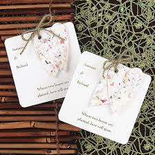 plantable wedding favors seed cards wedding favors wedding tips and inspiration