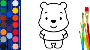 winnie the pooh baby coloring pages how to draw bear pooh