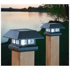 4x4 solar post lights castlecreek solar deck post cap lights 2 pack solar post lights