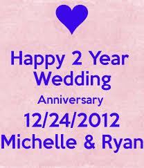 2 year wedding anniversary happy 2 year wedding anniversary 12 24 2012 poster