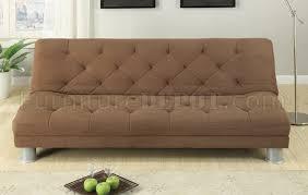 Plush Sofa Bed Saddle Plush Microfiber Modern Sofa Bed W Metal Legs