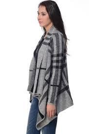 Draped Cardigan Sweater Ave U0026 Blvd Plaid Drape Cardigan Sweater South Moon Under