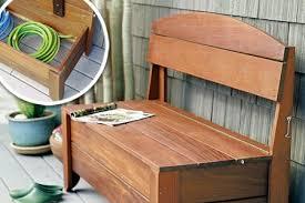 Bench With Storage Wood Bench With Storage Treenovation