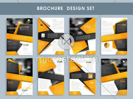 professional brochure design templates creative professional brochure set template or flyer design